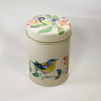 Round Bird Tea Canister