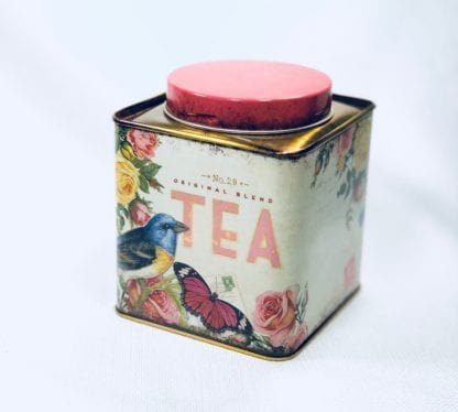 Square Bird Tea Canister