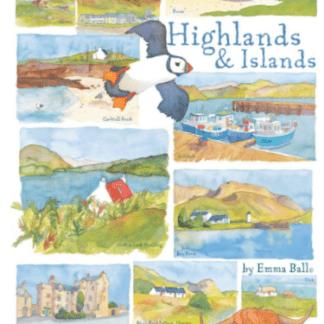 Highlands and Islands tea towel