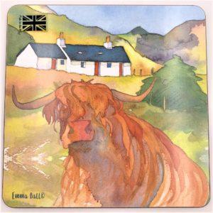 LArkin Tea Highland Cow Trivet