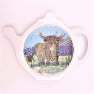 tea bag holder Cow Tweedie