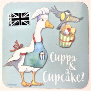 cuppa and cupcakes tea coaster