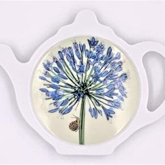 Agapanthus tea bag holder
