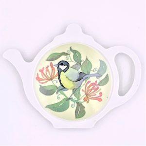Birds and Honeysuckle tea bag holder