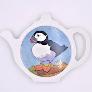 Puffin tea bag holder