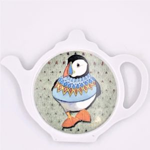 Wooly Puffin tea bag holder