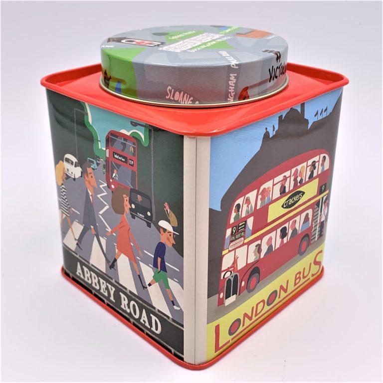London tea canister