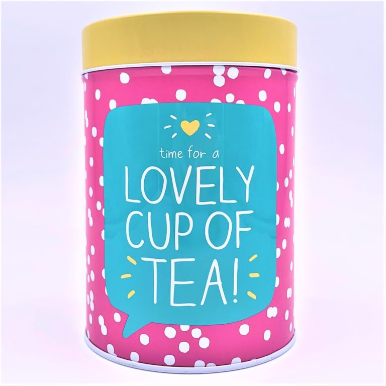 lovely cup of tea canister