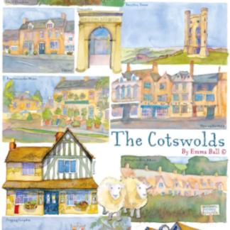 Cotswolds tea towel