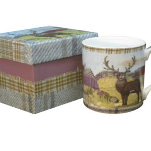 Tweedie Reindeer tea mug