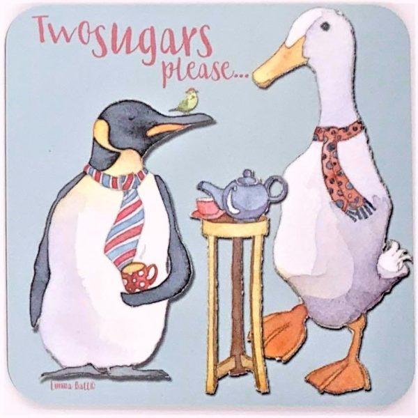 Two Sugars Please tea coaster