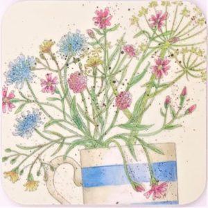 Wildflowers tea coaster
