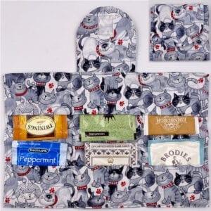 Grey Cats tea wallet