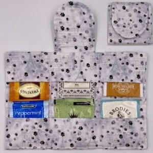 Paw-prints in Paris tea wallet